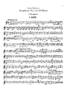 Symphony No.3 in D Minor, WAB 103: Trumpets parts by Anton Bruckner