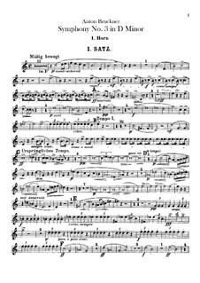 Symphony No.3 in D Minor, WAB 103: Horns parts by Anton Bruckner