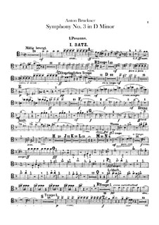 Symphony No.3 in D Minor, WAB 103: Trombones parts by Anton Bruckner