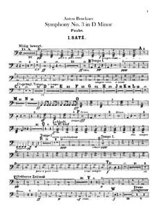 Symphony No.3 in D Minor, WAB 103: Timpani part by Anton Bruckner