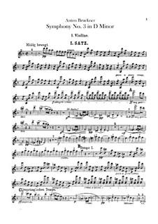 Symphony No.3 in D Minor, WAB 103: Violin I part by Anton Bruckner
