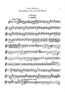 Symphony No.3 in D Minor, WAB 103: Violin II part by Anton Bruckner
