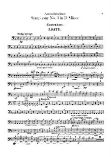 Symphony No.3 in D Minor, WAB 103: Double bass part by Anton Bruckner