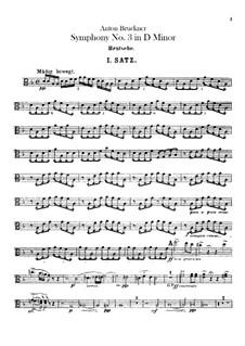 Symphony No.3 in D Minor, WAB 103: Viola part by Anton Bruckner