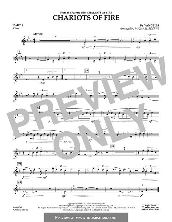 Chariots of Fire (arr. Michael Brown): Pt.1 - Oboe by Vangelis