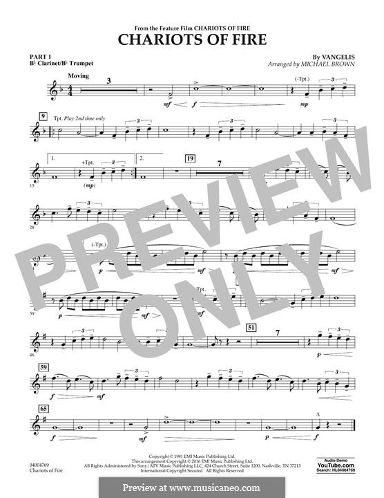 Chariots of Fire (arr. Michael Brown): Pt.1 - Bb Clarinet/Bb Trumpet by Vangelis