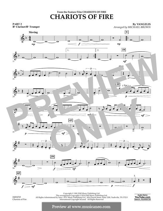 Chariots of Fire (arr. Michael Brown): Pt.2 - Bb Clarinet/Bb Trumpet by Vangelis