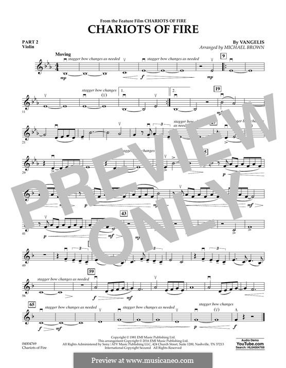Chariots of Fire (arr. Michael Brown): Pt.2 - Violin by Vangelis