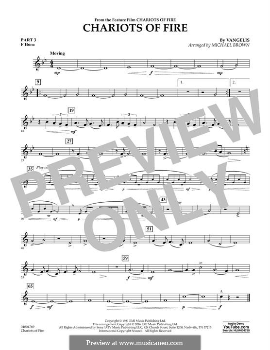 Chariots of Fire (arr. Michael Brown): Pt.3 - F Horn by Vangelis