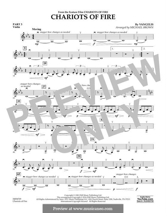 Chariots of Fire (arr. Michael Brown): Pt.3 - Violin by Vangelis