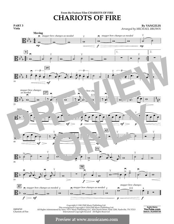 Chariots of Fire (arr. Michael Brown): Pt.3 - Viola by Vangelis