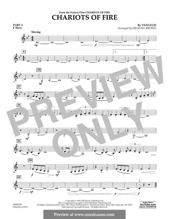 Chariots of Fire (arr. Michael Brown): Pt.4 - F Horn by Vangelis