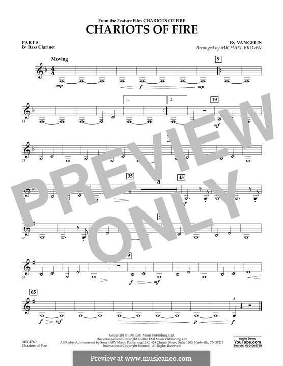 Chariots of Fire (arr. Michael Brown): Pt.5 - Bb Bass Clarinet by Vangelis