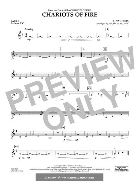 Chariots of Fire (arr. Michael Brown): Pt.5 - Baritone T.C. by Vangelis
