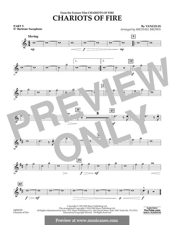 Chariots of Fire (arr. Michael Brown): Pt.5 - Eb Baritone Saxophone by Vangelis