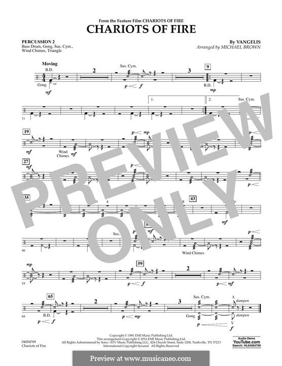 Chariots of Fire (arr. Michael Brown): Percussion 2 part by Vangelis