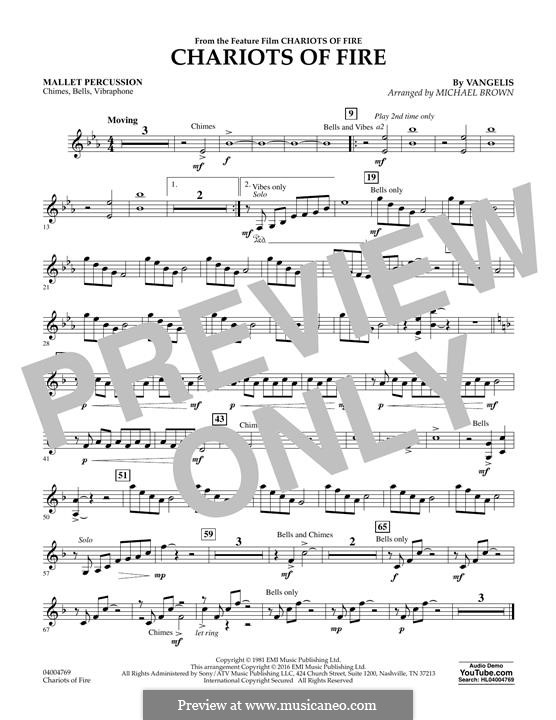 Chariots of Fire (arr. Michael Brown): Mallet Percussion part by Vangelis