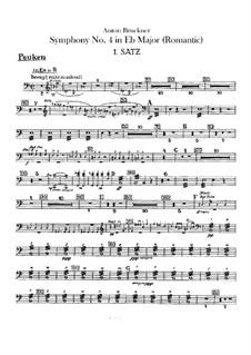 Symphony No.4 in E Flat Major 'Romantic', WAB 104: Timpani part by Anton Bruckner