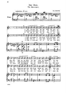 Seventeen Polish Songs, Op.74: No.7 Poseł (The Messenger) by Frédéric Chopin