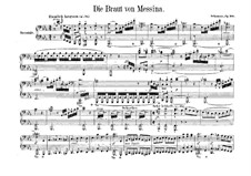 The Bride of Messina, Op.100: For piano four hands by Robert Schumann