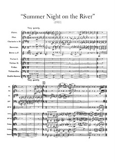 Summer Night on the River: Full score by Frederick Delius