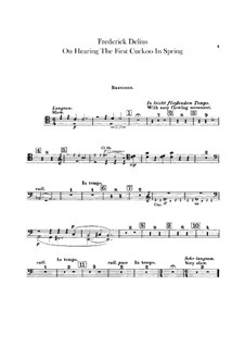 On Hearing the First Cuckoo in Spring: Bassoon part by Frederick Delius