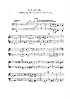 On Hearing the First Cuckoo in Spring: Violas part by Frederick Delius