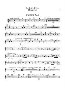 Brigg Fair : Trumpets parts by Frederick Delius