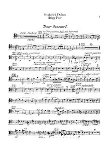 Brigg Fair : Trombones and tuba parts by Frederick Delius