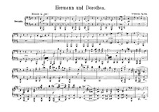 Hermann and Dorothea, Op.136: Version for piano four hands – parts by Robert Schumann