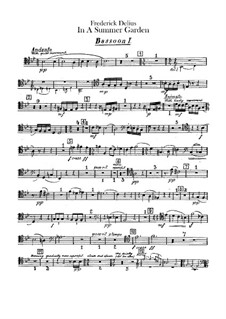 In a Summer Garden: Bassoons parts by Frederick Delius