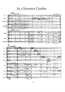In a Summer Garden: Full score by Frederick Delius