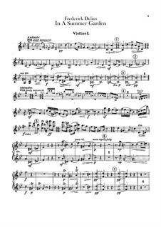 In a Summer Garden: Violins I part by Frederick Delius