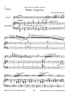 Valse-Caprice for Violin and Piano, Op.106: Score by Goby Eberhardt