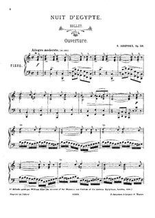 Egyptian Nights, Op.50: Piano score by Anton Arensky