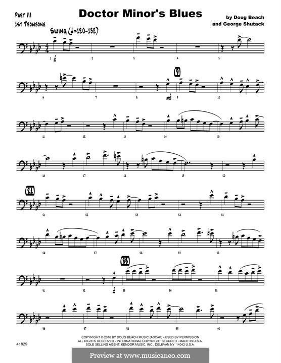 Doctor Minor's Blues: 1st Trombone part by Doug Beach, George Shutack