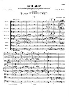 Two Arias to 'Die Schöne Schusterin' by I. Umlauf, WoO 91: Two Arias to 'Die Schöne Schusterin' by I. Umlauf by Ludwig van Beethoven