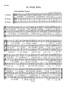 Ewig dein, WoO 161: Ewig dein by Ludwig van Beethoven