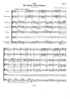 Aria 'Mit Mädeln sich vertragen', WoO 90: For voice and orchestra by Ludwig van Beethoven