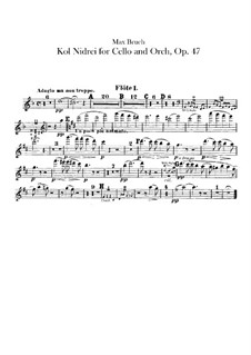 Kol Nidrei, Op.47: Flutes parts by Max Bruch