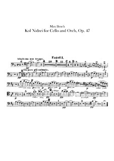 Kol Nidrei, Op.47: Bassoons parts by Max Bruch