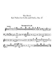 Kol Nidrei, Op.47: Trumpets parts by Max Bruch