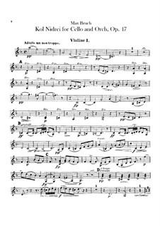 Kol Nidrei, Op.47: Violins parts by Max Bruch