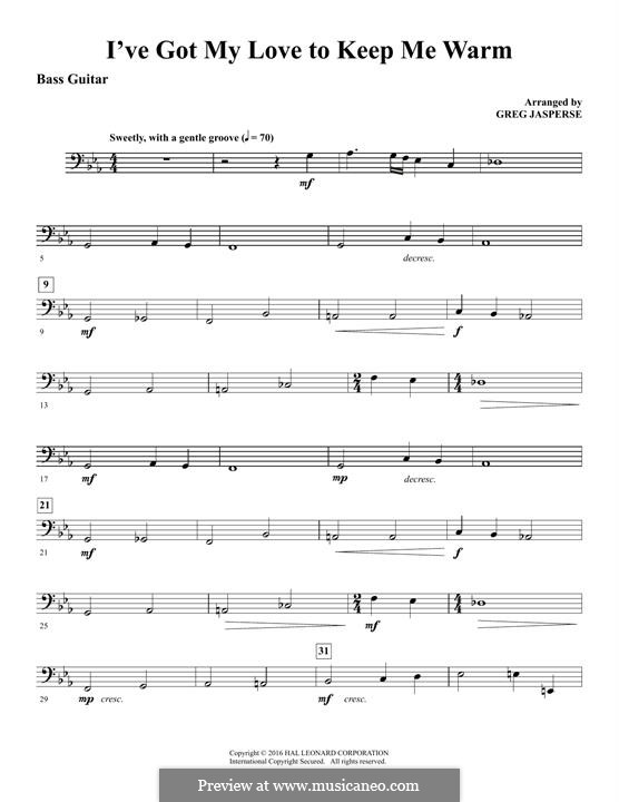 I've Got My Love to Keep Me Warm (Frank Sinatra): Bass part by Irving Berlin