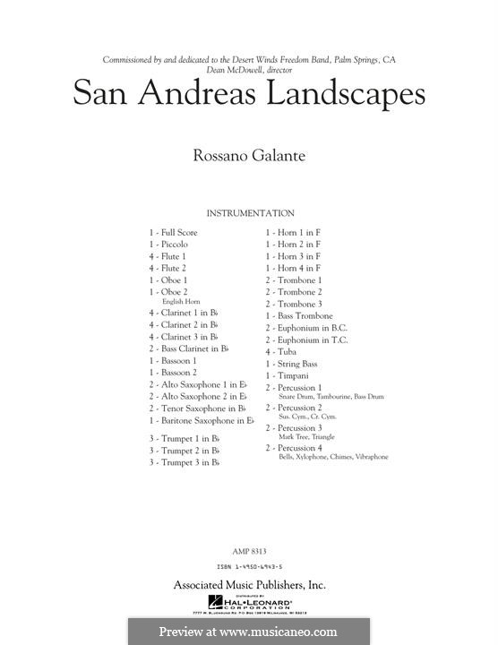 San Andreas Landscapes: Full Score by Rossano Galante