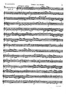 Symphony No.1 in B Flat Major, Op.18: Oboe II part by Muzio Clementi