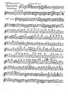 Symphony No.2 in D Major, Op.18: Flute I part by Muzio Clementi