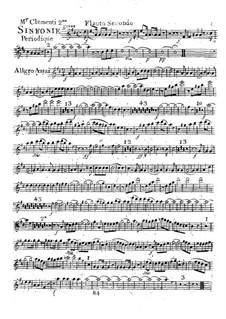 Symphony No.2 in D Major, Op.18: Flute II part by Muzio Clementi