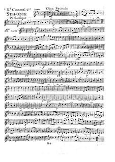 Symphony No.2 in D Major, Op.18: Oboe II part by Muzio Clementi