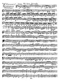 Symphony No.2 in D Major, Op.18: Violin II part by Muzio Clementi